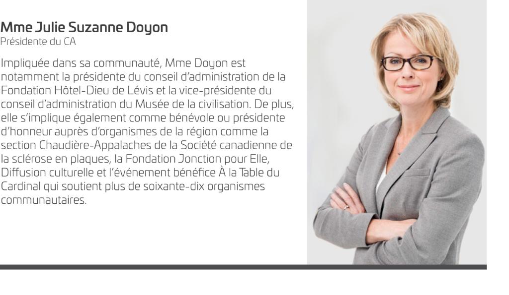 Julie Suzanne Doyon_Présidente CA VIA